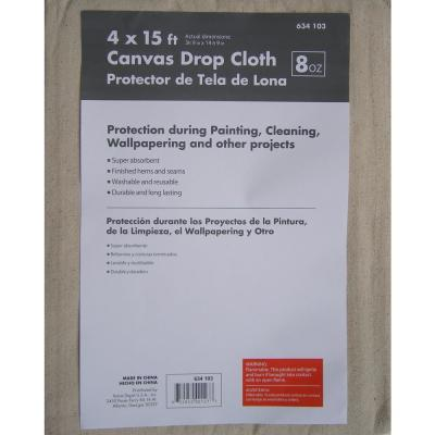 null 3-3/4 ft. x 14-3/4 ft. Canvas Drop Cloth
