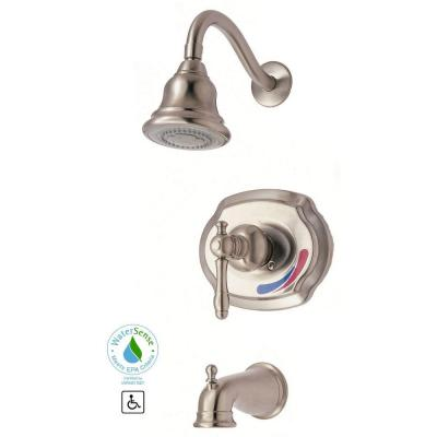 Glacier Bay Lyndhurst Single-Handle 1-Spray Tub and Shower Faucet in Brushed Nickel