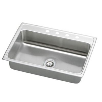 Elkay Pacemaker Top Mount Stainless Steel 31 in. 3-Hole Single Bowl Kitchen Sink