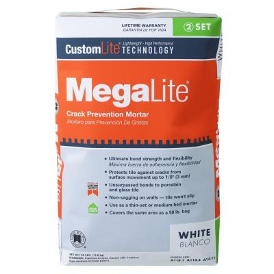 Custom Building Products MegaLite 30 lb. White Crack Prevention Mortar