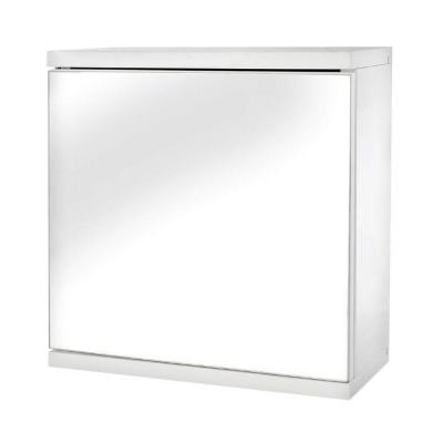 Croydex 11-7/8 in. W Simplicity Single Door Mirrored Cabinet in White