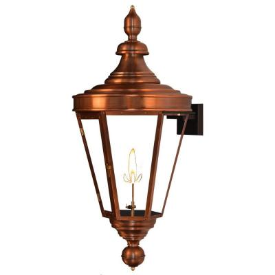 Filament Design Regale 1-Burner 29 in. Copper Outdoor Natural Gas Wall Lantern