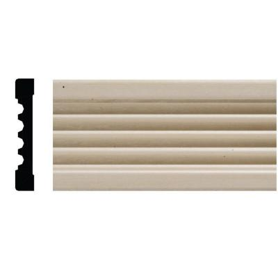 1820 3/8 in. x 2-1/4 in. x 84 in. White Hardwood Fluted Casing Moulding Product Photo