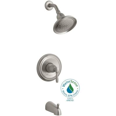 KOHLER Devonshire 1-Handle Rite-Temp Tub and Shower Faucet Trim Kit in Vibrant Brushed Nickel (Valve Not Included)