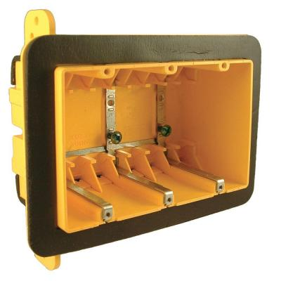 3 Gang Rectangular Non-Metallic Vapor Barrier Box with Mounting Bracket (25-Pack) Product Photo