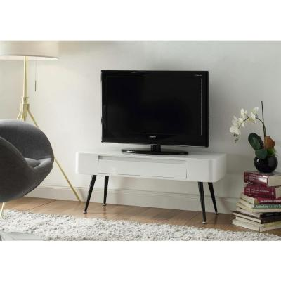 4D Concepts White Storage Console Table