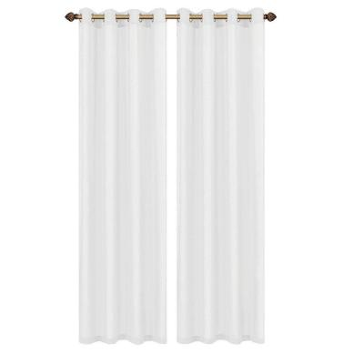 Primavera Crushed Microfiber White Grommet Extra Wide Curtain Panel, 60 in.