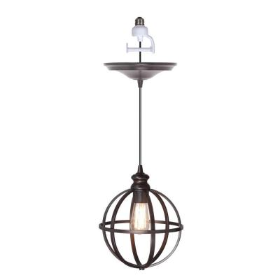 worth home products 1 light brushed bronze instant pendant