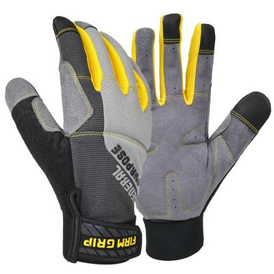 General Purpose Gray Synthetic Leather Glove (3-Pack)