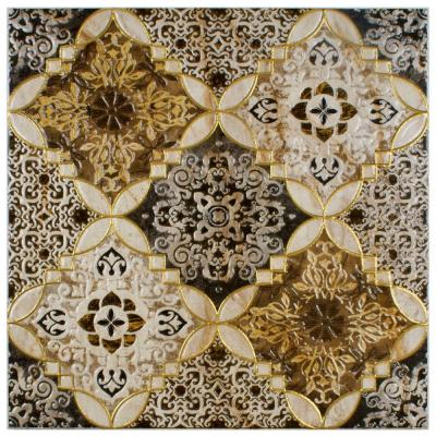 Dana Toja Decor 17-3/4 in. x 17-3/4 in. Ceramic Floor and Wall Decor Tile Product Photo