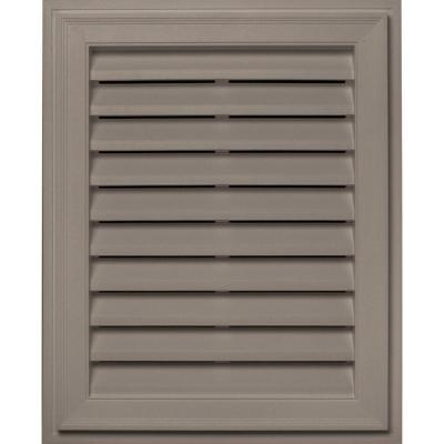 20 in. x 30 in. Brickmould Gable Vent in Clay Product Photo