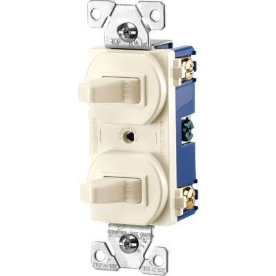 Commercial Grade 15-Amp Single Pole 2 Toggle Switches with Back and
