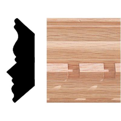 3/4 in. 2-1/4 in. x 8 ft. Oak Dentil Crown Moulding Product Photo