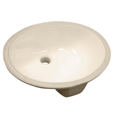 foremost vitreous china oval undermount bathroom sink in