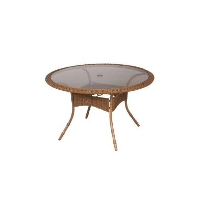Hampton Bay Clairborne 48 In Round Patio Dining Table DY11079 48 The Home