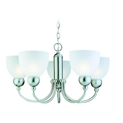 Sea Gull Lighting Metropolis 5-Light Brushed Nickel Single Tier Chandelier 31036-962