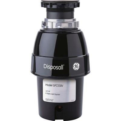 GE 1/2 HP Continuous Feed Garbage Disposal