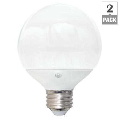 40W Equivalent Soft White G25 Globe Dimmable LED Light Bulb (2-Pack)