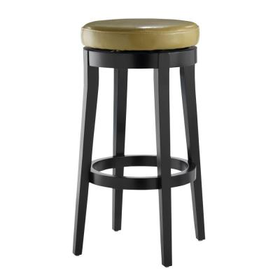 Home decorators collection backless green 30 in h swivel bar stool 0847100610 the home depot Home depot wood bar stools