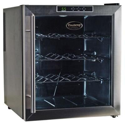 Vinotemp 16-Bottle Black Thermoelectric Wine Cooler