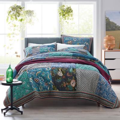 Hillbrooke Floral Cotton Patchwork Quilt