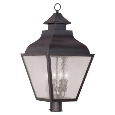 Filament Design Providence 4-Light 28 in. Outdoor Bronze Post Head Lantern