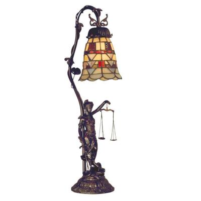 Dale Tiffany 1-Light Lady Justice Accent Lamp-DISCONTINUED