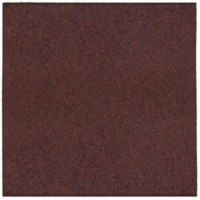 Envirotile 18 in. x 18 in. Terra Cotta Rubber Flat Profile Paver