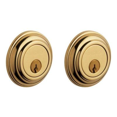 Baldwin Traditional Double Cylinder Lifetime Polished Brass Deadbolt