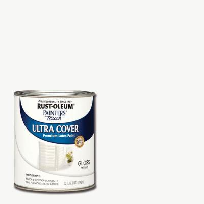 32 oz. Ultra Cover Gloss White General Purpose Paint