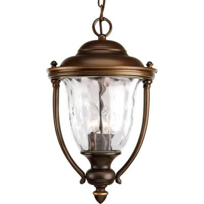 Progress Lighting Prestwick Collection Hanging Mount 3-Light Outdoor Oil Rubbed Bronze Lantern