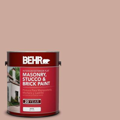 BEHR Premium 1-gal. #MS-03 Ocean Coral Flat Interior/Exterior Masonry, Stucco and Brick Paint