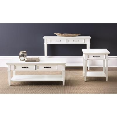 Home Decorators Collection Martin Ivory Storage End Table