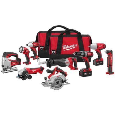 M18 18-Volt Lithium-Ion Cordless Combo Kit (9-Tool)