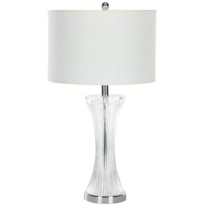 Zelda 25 in. Glass Table Lamp with White Shade