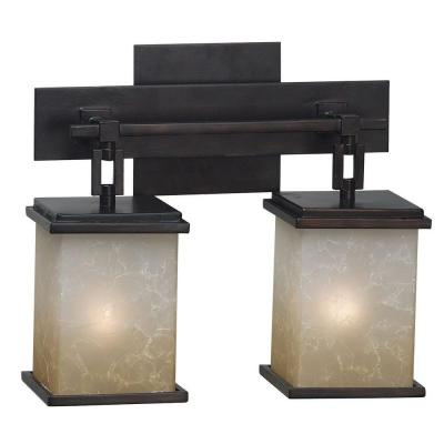 Kenroy Home Plateau 11 in. Oil Rubbed Bronze 2 Light Vanity 3373