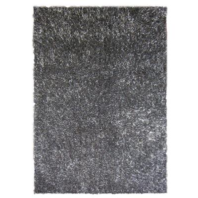 Lanart Ribbon Shag Charcoal 5 ft. x 7 ft. 6 in. Area Rug