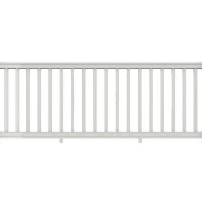 8 ft. x 36 in. White Vinyl Premier Rail with Square