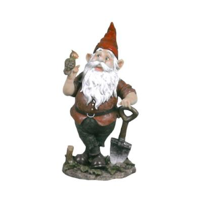 null Birdy and Spader the Garden Gnome Statue-DISCONTINUED