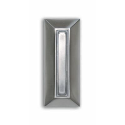 Wired Halo-Lighted Rectangular Push Button in Polished Brass Finish