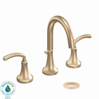 MOEN Icon 8 in. Widespread 2-Handle High-Arc Bathroom Faucet in Brushed Bronze-DISCONTINUED