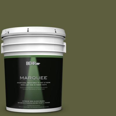 BEHR MARQUEE 5-gal. #PPU9-25 Eastern Bamboo Semi-Gloss Enamel Exterior Paint