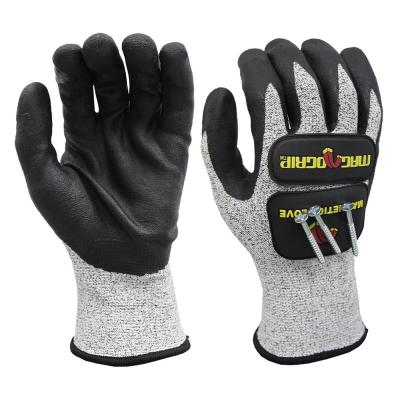 Impact and Cut Resistant Magnetic Gloves with Touchscreen Technology
