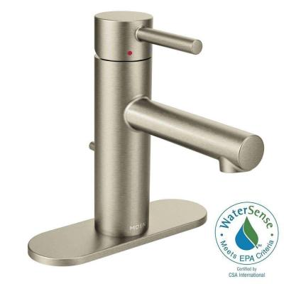 Align Single Hole 1-Handle Bathroom Faucet in Brushed Nickel Product Photo