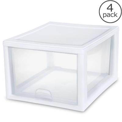 Sterilite 27-Qt. Stacking Drawer (4-Pack)