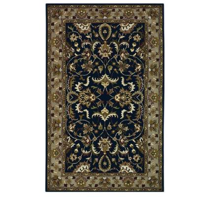 Home Decorators Collection Constantine Midnight Blue/Beige 8 ft. x 11 ft. Area Rug