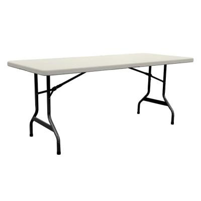 6 ft. Banquet Resin Table in Earth Tan
