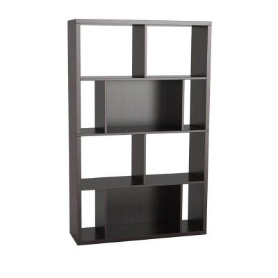 Monaco 4-Shelves Bookcase and Display Case in Espresso Product Photo