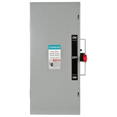 Double Throw 100 Amp 240-Volt 3-Pole Indoor Non-Fusible Safety Switch Product Photo