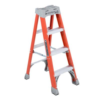 Louisville Ladder 4 ft. Fiberglass Step Ladder with 300 lbs. Load Capacity Type IA Duty Rating